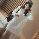 2016 Korean Style Casual Loose Long Sleeve Cotton Dress For Pregnancy Women OE