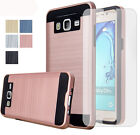 Hybrid Armor Hard ShockProof Phone Case Cover & Tempered Glass Screen Protector