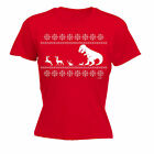 Christmas LUNCH T-Rex WOMENS T-SHIRT funny mothers day gift x-mas present her