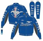Mustang Multi-Logo Jacket BLUE with Mach 1, BOSS, GT/CS BY JH FROM THE UK