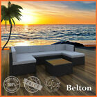 New Rattan 7pc Black Wicker Garden Outdoor Furniture Sofa Lounge Setting