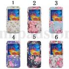 Flower Ordinary Flip View Window Leather Case Cover For Various Smart phone