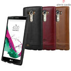 For LG G4 Case , Pierre Cardin Genuine Leather Cover Hard Back Case Skin