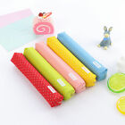 Cute Long Canvas Pointed Bag Zipper Canvas Pen Pencil Case School Stationery