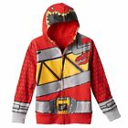 Power Rangers Dino Charge Hoodie Red Ranger Size's 4 - 5/6 - 7 NWT $38 RV