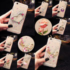 For Mobile Phone Bling Crystals Handmade TPU Soft Transparent Back Case Cover #1