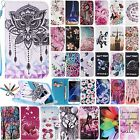 Leather Wallet Case Patterned Card Holder Stand Cover For Samsung S5/S6/S7 Edge
