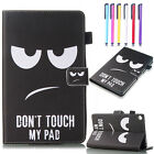Painted Magnetic Leather Wallet Stand Case Cover For Amazon Kindle Fire 7 / HD 8