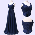 Formal Long Prom Dress Bridesmaid Long Evening Party Ball Gown Plus UK Size 6-20