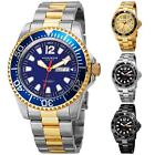 Men's Akribos XXIV AK947  Diver Style Day Date Stainless Steel Bracelet Watch image