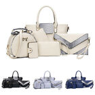6pcs/SET Womens Handbag Satchel Shoulder Messenger Crossbody Bag Purse Cheap&NEW