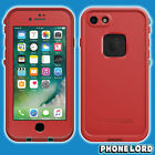 Genuine Lifeproof Fre Frē case cover for iPhone 7 waterproof Ember Red Teal new