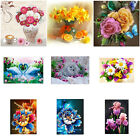 5D Diamonds Embroidery Painting Flowers Pattern DIY Cross Stitch Home Decoration