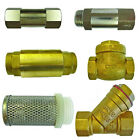 Brass Non- Return and Check Valves Foot Mesh and Brass Y Strainer liquids / Air