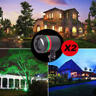 2X Christmas Star Light RED GREEN Shower Laser LED MOTION Projector Garden Decor