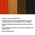 Vintage 3 Core Electric Cable flex Round Silk Braided Fabric for Lighting 0.75mm