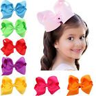 4.7 Inch Hair Bow Bowknot Boutique Baby Girls Alligator Clips Headwear