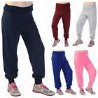 Womens Ladies Plain Elasticated Waist Sports Tracksuit Jogging Bottoms Pants