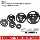"""CAP Barbell 2"""" Olympic Grip Weights SINGLE 2.5lbs - 45lbs Pounds Cast Iron Plate"""