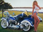 Harley Davidson And Sexy Lady  24inx42in HD Art Poster Canvas/Satin