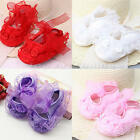 Girls PJs Satin Flower and Lace Pram Shoes For Reborn Baby Doll 0-18months NEW