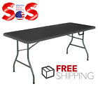 Portable Folding Table 6' Outdoor Picnic Plastic Camping Dining Party PICK COLOR