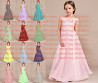 Flower Girls lace Bridesmaid Wedding Formal Party Ball Gown Prom Princess Dress
