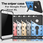 Armor Slim Kickstand Protective Shockproof Cover For Google Pixel XL Sniper Case
