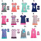 "Girl 4-14 and 18"" doll matching nightgown pajamas ft Dollie Me & American Doll"