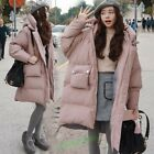 Winter Loose Down Jacket Womens Hooded Long Coat Outdoor Parka Overcoat Jacket