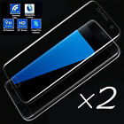 2 x Curved Tempered Glass Screen Protector 3D For Samsung Galaxy S7 Edge S6 Plus