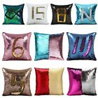 Double Sequin Reversible Mermaid Pillow Cover Glitter Sofa Auto Bed Cushion Case
