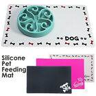 Silicon Pet Feeding Food Mat for Dog Cat Placemat Dish Bowl Easy Wipe Clean