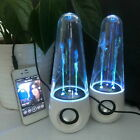 LED Dancing Water Music Fountain Light Speakers for PC Laptop iPhone iPad4 US B2
