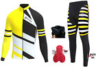 Mens Cycling Jersey Cold Wear Thermal Top&amp;Cycling Tights Pants For Winter <br/> Thermal Fabric,Sublimation Design,Hassle-Free Returns