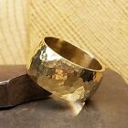 9MM HAMMERED WEDDING BAND 100% ECO-FRIENDLY RECYCLED 14K GOLD FREE SIZING 4-12