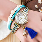 Fashion Women Watch Bracelet Crystal Leather Dress Analog Quartz Wrist Watches