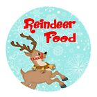 24 4cm round address stickers party bag labels - ND1 reindeer food xmas chistmas