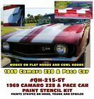GE-QH-215-ST 1969 CHEVY CAMARO - Z28 & PACE CAR - COMPLETE PAINT STENCIL KIT