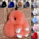Bunny Cute  Rex Rabbit Fur Bag Handbag Key Chain Pom Doll Ball Ring Pendant