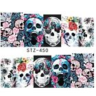 1x one stroke sticker, wrap skull, totenkopf,  nail art sticker , la catrina