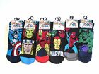 Men's Marvel Comic Socks, Spiderman, Iron Man, Captain America, Incredible Hulk