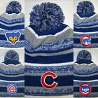 Chicago Cubs New Era Pom Pom Beanie ~Knit Cap ~Classic MLB Patch/Logo ~NEW ~Cool