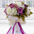 Artificiale peonia Rose Wedding Bouquet sposa damigella d'onore Casa Decor