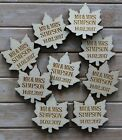LEAF /LEAVES Wooden PERSONALISED Table Confetti, Scatter Favours