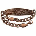 Solid Copper Bracelet Celtic Handmade Irish Jewelry Knot Design Knotwork Symbol
