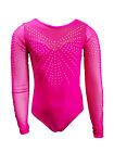SIMPLY PINK LONG SLEEVE GIRLS GYMNASTICS LEOTARDS