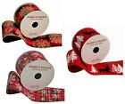 "NEW Ribbon CHOOSE Wired Edge Red Black White 25' Feet 2 1/2"" Wide Christmas"