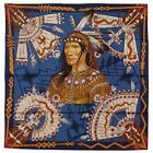 NEW Authentic Hermes Silk Scarf COSMOGONIE APACHE Blue Red