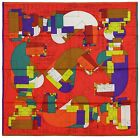 NEW Authentic Hermes Silk Scarf ECHEC AU ROI Red Benoit Pierre Emery Chess
